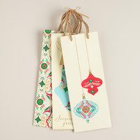 Ornaments Value Wine Gift Bags, Set of 3 - World Market