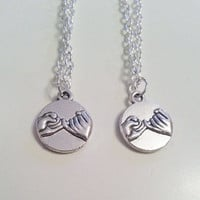 Best friend pinky promise necklaces!