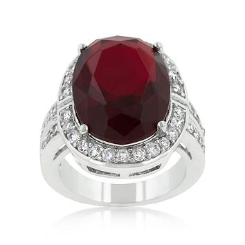 Lina Vintage Ruby Red Oval Cocktail Ring | 17ct
