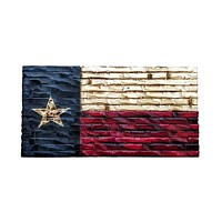 Texas State Flag Rustic Wood Decor 38x21