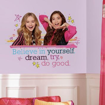 Girl Meets World 9-piece ''Believe In Yourself'' Peel and Stick Wall Decal Set