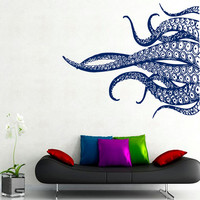 Octopus Wall Decals Tentacles Stickers Bathroom Wall Decor Sea Ocean Animals Home Vinyl Decal Sticker Kids Nursery Baby Room Decor kk760