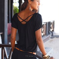 Cross Back Braid T-Shirt