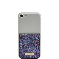 kate spade new yorkGlitter Coated Canvas Adhesive Card Case