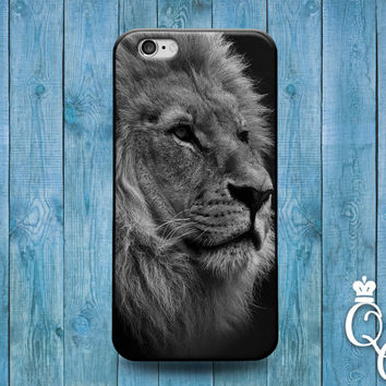 iPhone 4 4s 5 5s 5c 6 6s plus iPod Touch 4th 5th 6th Generation Cute Black White King of the Jungle Lion Face Phone Cover Cool Animal Case
