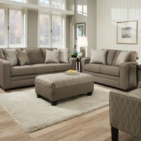 Sequin Pewter Sofa and Loveseat