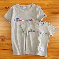Champion Children Woman Men Fashion Tunic Shirt Top Blouse Set Two Piece