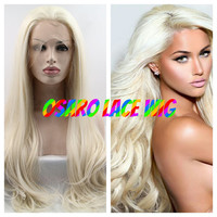 USA. lace front wig. platinum blonde   hair. Realistic natural Hair line. best quality. any lenght