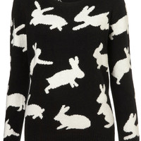 Knitted Jumping Bunny Jumper - Sweaters - Knitwear - Clothing - Topshop USA