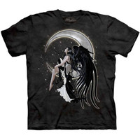 ONYX ANGEL The Mountain Crescent Moon Stars Goth Gothic Fairy T-Shirt S-3XL NEW