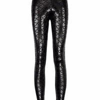 PEAPON 2017 Mermaid Shiny Dotted Dragon Fish Scale Leggings Fashion Open Bright Color Pencil Pants Mermaid Scales Fish Dragon leggings
