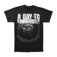 A Day To Remember Men's  Broken Record T-shirt Black Rockabilia