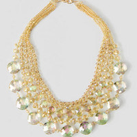 STEFFEN'S DRIVE BEADED NECKLACE IN TAUPE