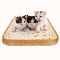 Toast bread Shape Cat Kennel Mat