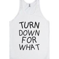 For What-Unisex White Tank