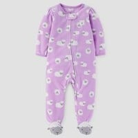 Baby Girls' Sheep Fleece Sleep N' Play - Just One You™ Made by Carter's® Purple