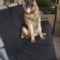 """Epica - Deluxe Pet Bench Car Seat Cover, Quilted, Water Resistant, and Machine Washable ,Black (Item# 82247)-56""""x47"""""""