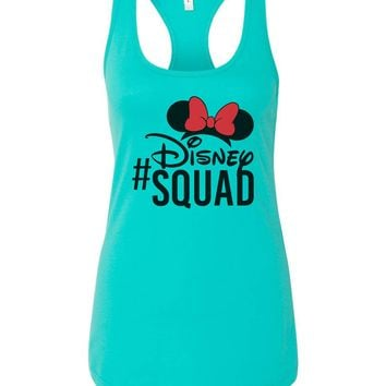 Womens Disney Squad Grapahic Design Fitted Tank Top