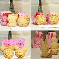 Cartoon Baking Mould Biscuit Mould Cookie Cutter 3D Three-Dimensional Cartoon Biscuits Mold DIY Tools for Baking Claying Plunger