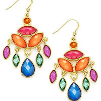 Style&co. Earrings, Gold-Tone Multi-Color Bead Chandelier Earrings - All Fashion Jewelry - Jewelry & Watches - Macy's