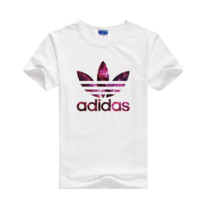 """Adidas"" Men Fashion Casual Clover Letter Galaxy Print Round Neck Short Sleeve Cotton T-shirt"