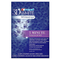 Crest 3D White Stain Shield 5 Minute Touch-Ups Teeth Whitening Strips, 56 Count