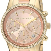 Michael Kors Watches Ritz Two-Tone Chronograph Watch
