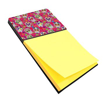 Day of the Dead Pink Sticky Note Holder BB5115SN