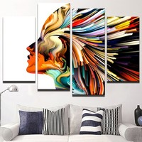 Frame Wall Art Home Decor Canvas 4 Panel Living Room Poster