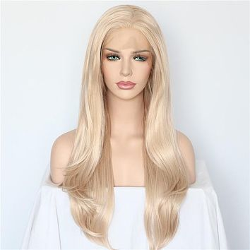 Goldie- Natural Wave Heat Resistant Synthetic Front Lace Wig