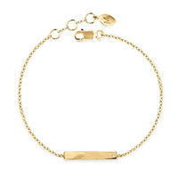 Gold Bracelet with Inset Diamond