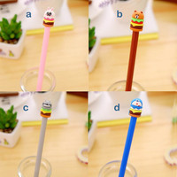 Kawaii Pens, Hamburger Rabbit, Bear, Totoro, Doraemon, Cute Writing Supplies