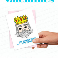 Cute Valentines Cards, King Friday Mister Rogers Valentine Card, Retro Valentines Card, Love Card Valentines, Cute Kids Valentine Cards
