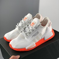 Adidas NMD R1 Boost V2 second generation stretch knit surface running shoes men and women running shoes walking shoes