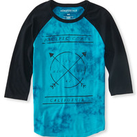Aeropostale  3/4 Sleeve Pacific Raglan Graphic T - Black