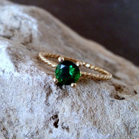 SALE! May birthstone,emerald ring, gold ring, delicate ring, stackable birthstone ring, mothers ring,14k gold filled,engagement ring.