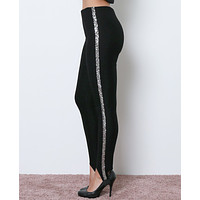 Ellie Stirrup Leggings - Black/Silver