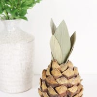 "Artificial Pineapple Fruit Decoration - 7"" Tall"