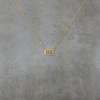Chicago Flag Gold Necklace