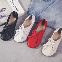 Bowknot Tassel Multi-Way Flat Slip On Shoes