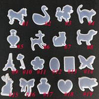 19Pcs New Multi-style Silicone Mold DIY Jewelry Pendant Ornament Resin Making Geometric Animal Mixed Shape