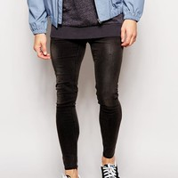 Cheap Monday   Cheap Monday Jeans Low Spray Extreme Super Skinny Fit Worn Gray at ASOS