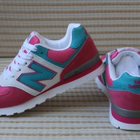 New Balance Women Sport Casual Multicolor N Words Breathable Sneakers Running Shoes-2