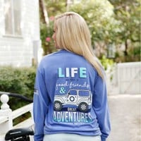 JEEP LIFE LONG SLEEVE TEE - Long Sleeve - T-Shirts - Clothing - Womens