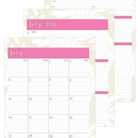 July 2015 - June 2016 Susy Jack Blomma Weekly/Monthly 3-hole Punch Planner Refill 8.5 x 11