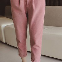 Fashionable Corduroy Loose-Fitting Pants For Women