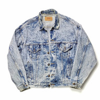 Levi's Jean Jacket Size XL Acid Wash Made In USA