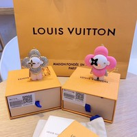Louis Vuitton Lv M67378 Xmas Vivienne Winter Strass Bag Charm And Key Holder White Gold