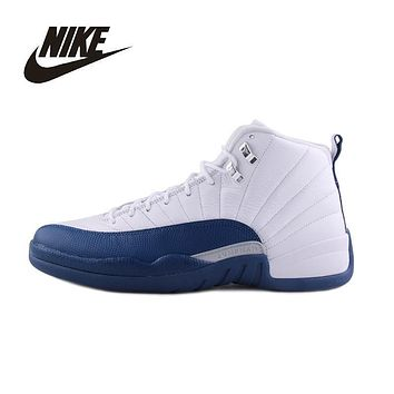 AIR JORDAN 12 Basketball Shoes Breathable Comfortable Support Sports Shoes 130690-113