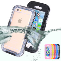 FLOVEME Durable Waterproof Shockproof Swim Case Cover Outdoor Case for For Apple iPhone 5 5S 5C iPod Touch 5 5se Se Pouch